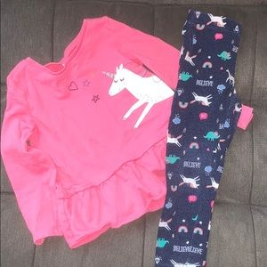 Carter's girl matching set. Size 4T.